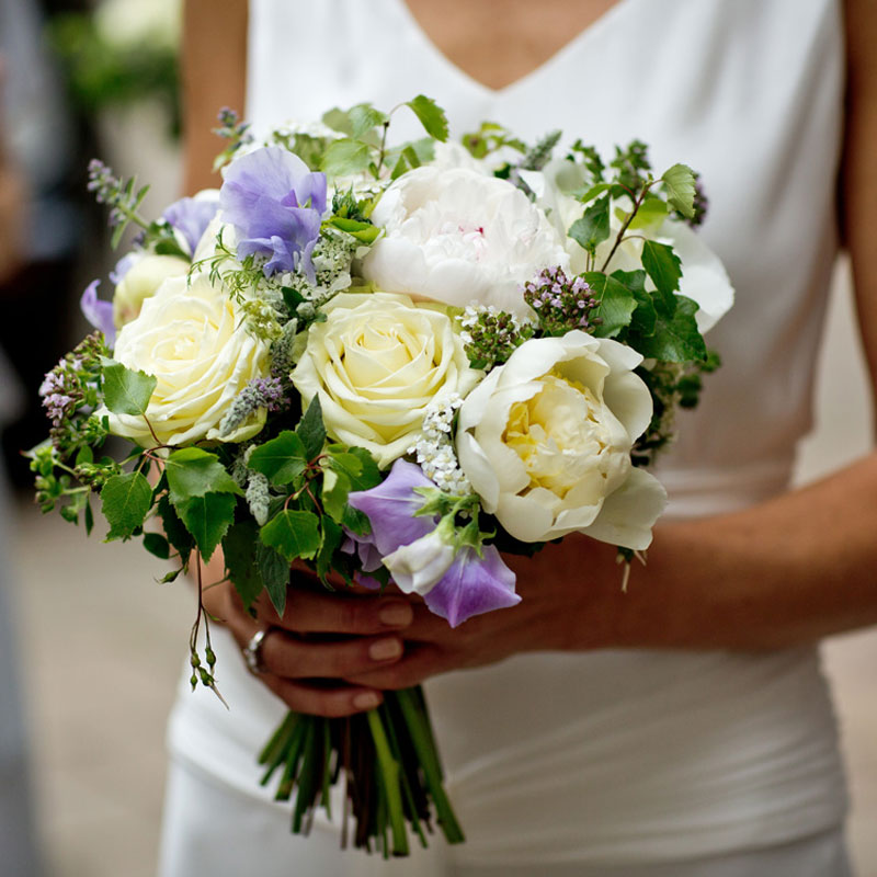 Wedding flowers by Blue Lavender London florist