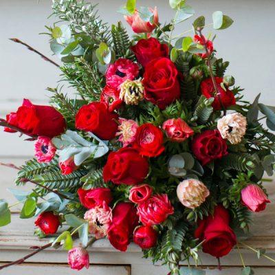 Mon Amour flower bouquet by Blue Lavender London florist