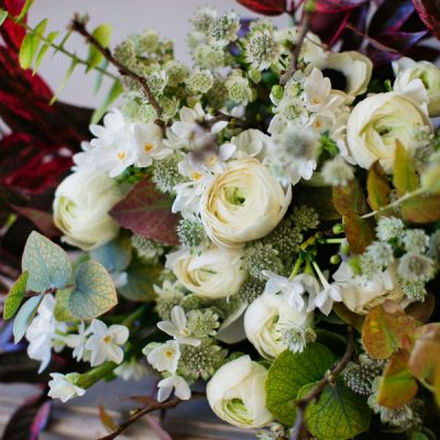 Passion flower bouquet by Blue Lavender London florist