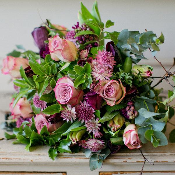 Pour Toujours flower bouquet by Blue Lavender London florist
