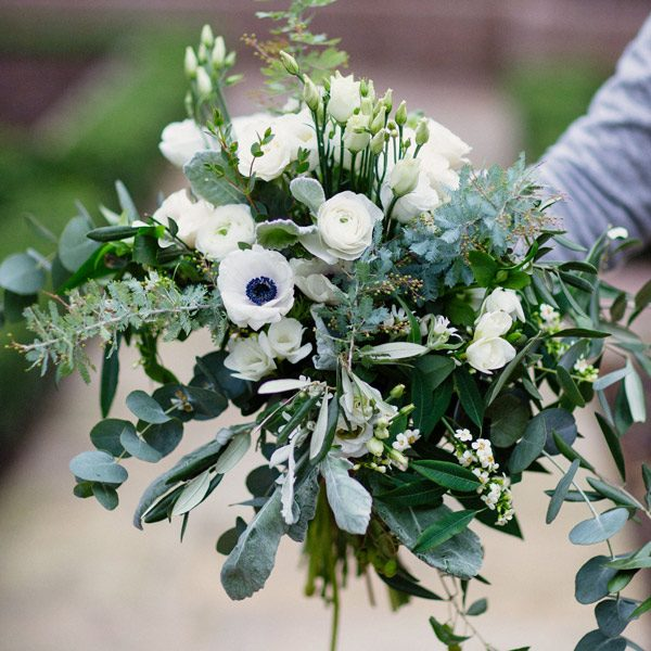 Blanc d'hiver bouquet by Blue Lavender Florist London