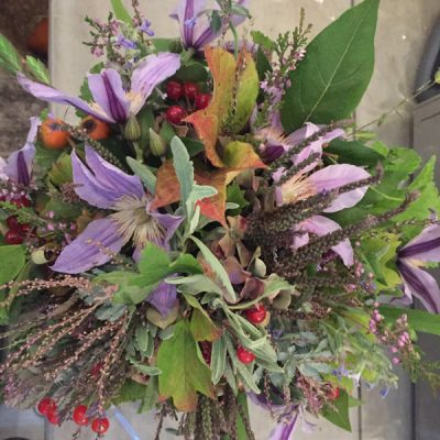 Cottage garden bouquet by Blue Lavender Florists London