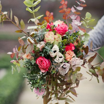 Les ancient roses bouquet by Blue Lavender Florist London