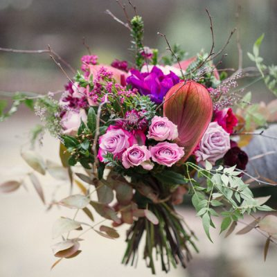 Roses in the Meadow bouquet by Blue Lavender Florist London