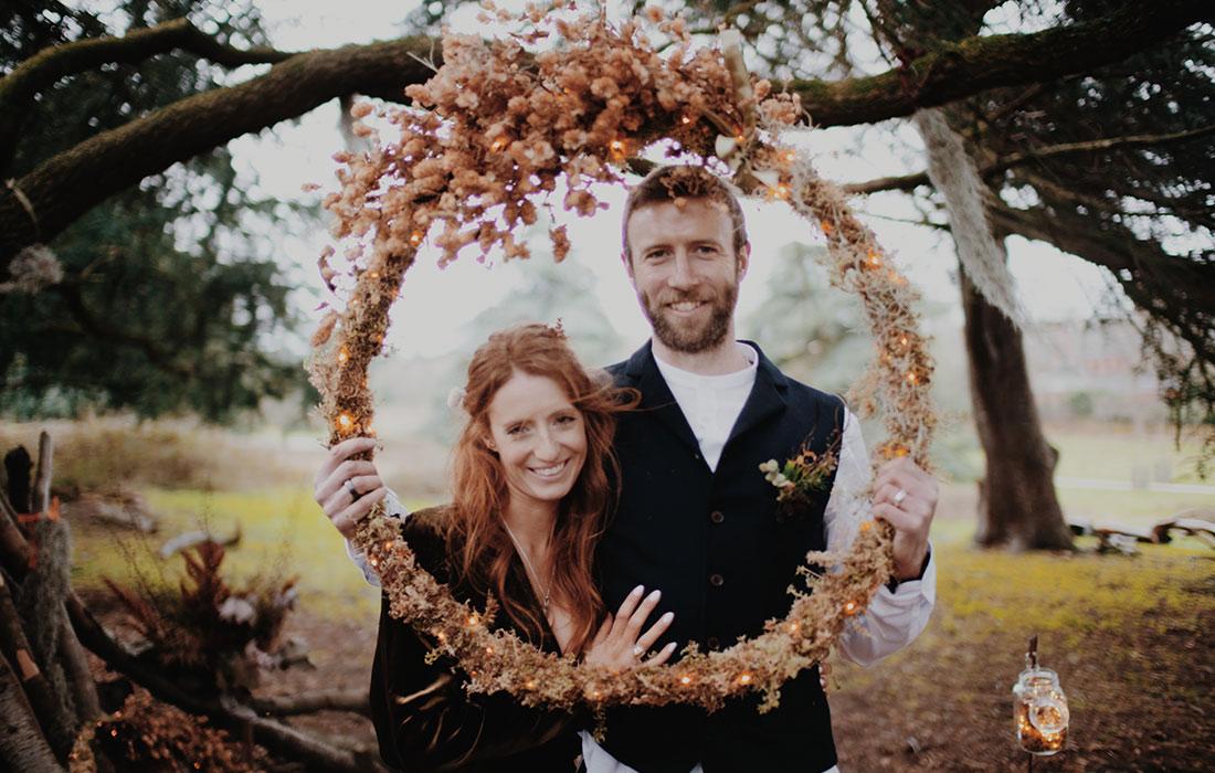 Wedding flower wreath by Blue Lavender