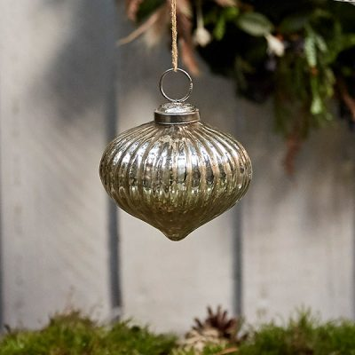 Silver Glass Bauble