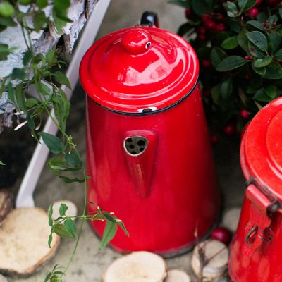 French vintage red cafetiere