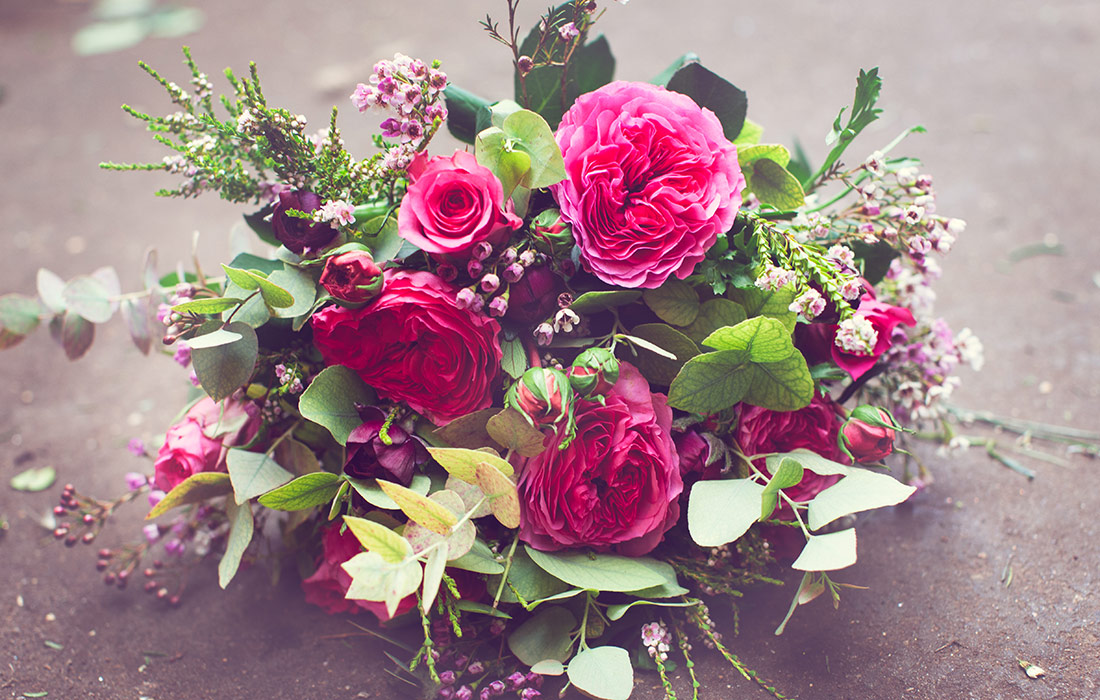 Valentine's Day bouquets by Blue Lavender Florist, London
