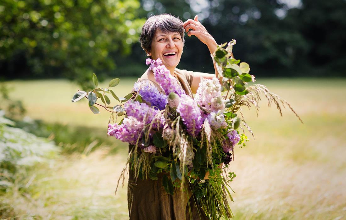 Azar, owner of Blue Lavender Florists, Barnes